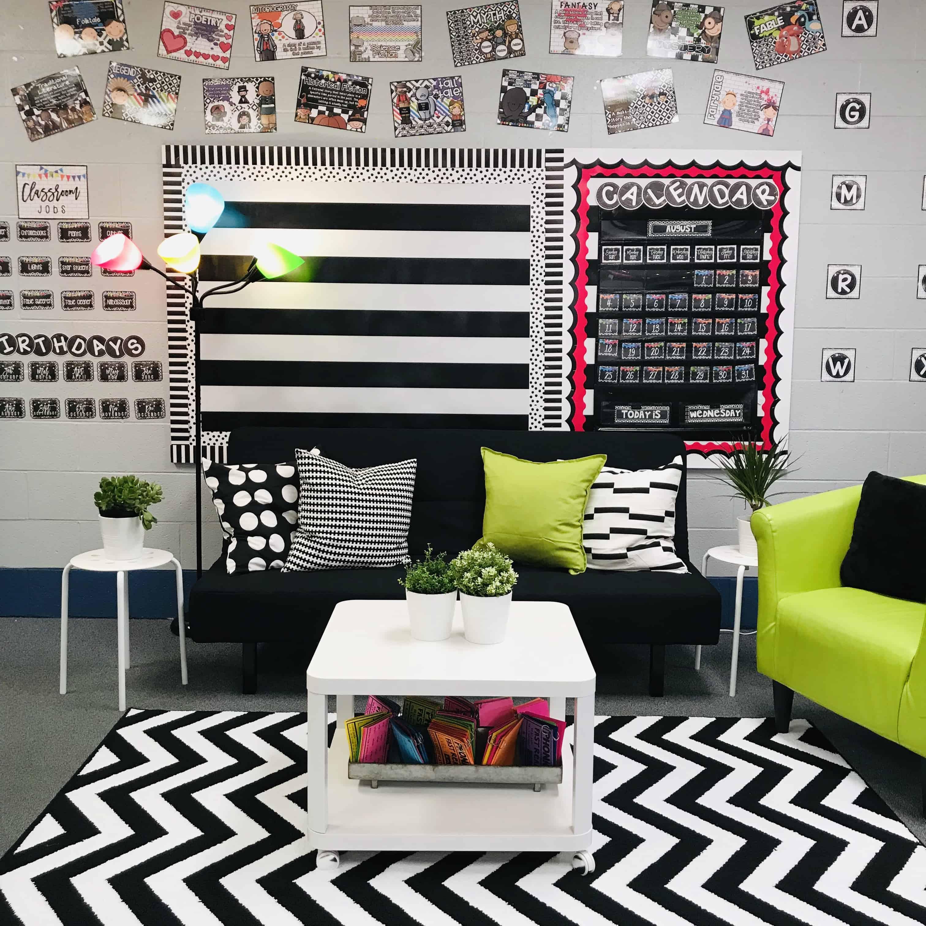 Classroom Reveal | Farmhouse Flair Neon Tile Classroom Decor