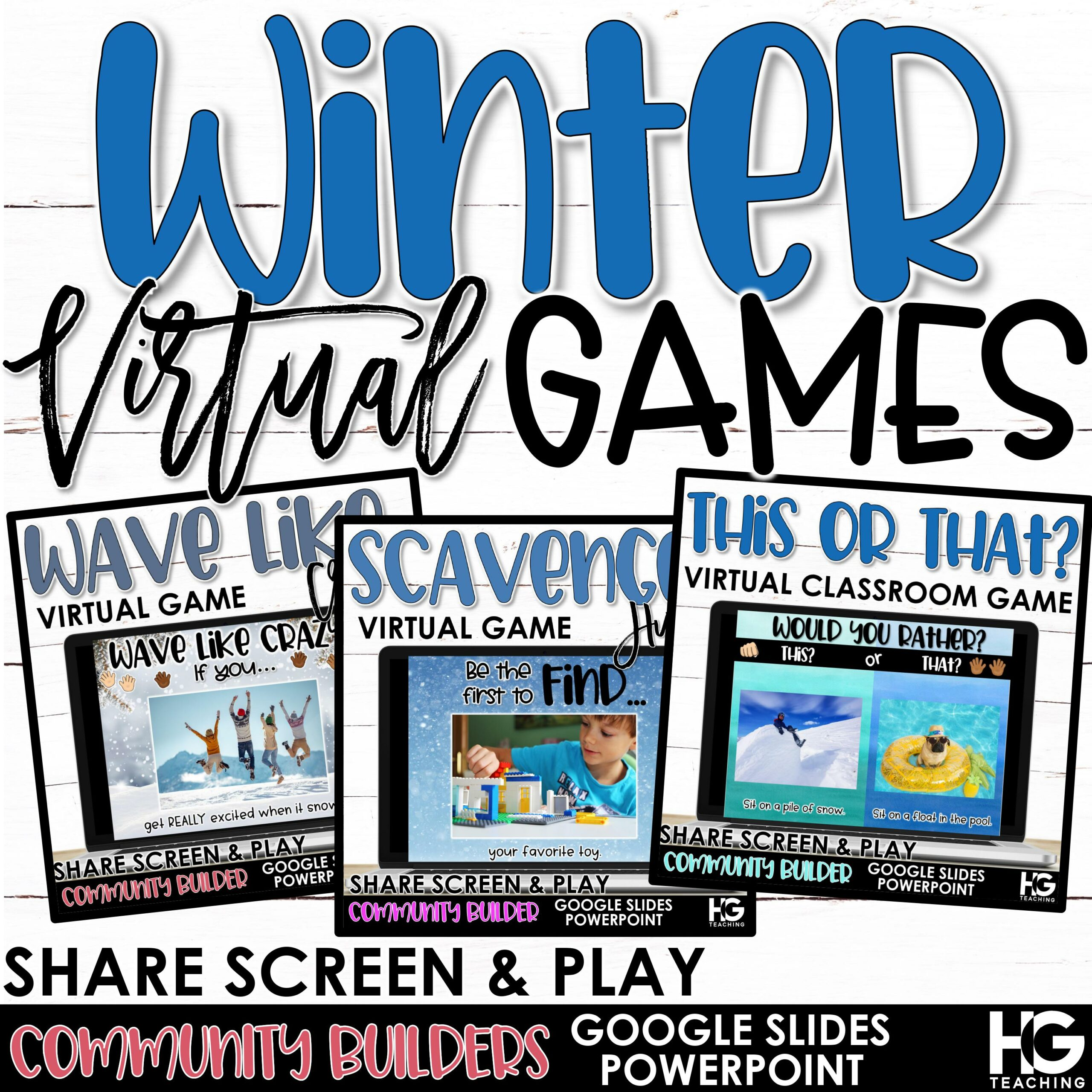 Virtual Classroom Games for WINTER
